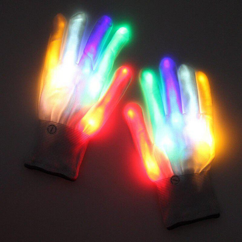 Shop Luminous Magic Party Supplies Performance Rainbow LED Gloves