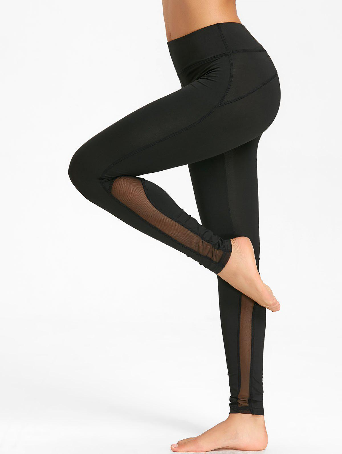 Fashion Mesh Panel Workout Tights