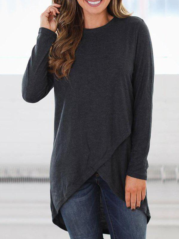 Store High Low Overlap Tunic Top