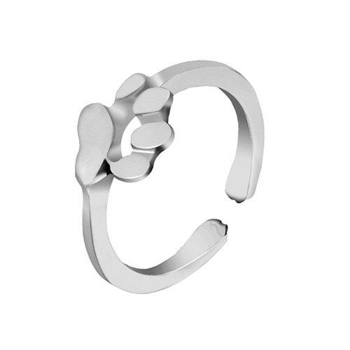 Unique Dog Paw Decorated Finger Ring