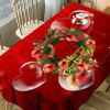 Christmas Wreath Bear Heart Print Waterproof Table Cloth -