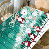 Abstract Christmas Tree Santa Claus Printed Waterproof Table Cloth -