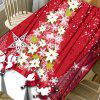 Flower Christmas Tree Santa Claus Printed Waterproof Table Cloth -