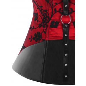 Plus Size PU Leather Choker Corset -