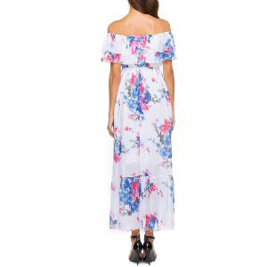 Short Sleeve Floral Print Bohemian Dress -