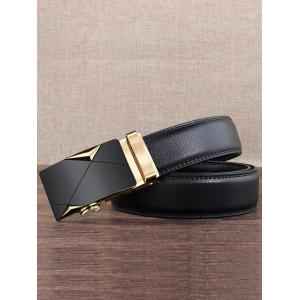 Vintage Carved Metal Buckle Decoration Faux Leather Belt -