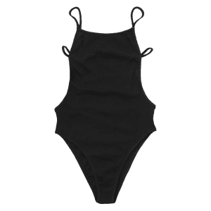 Cut Out Back Strappy Bodysuit -