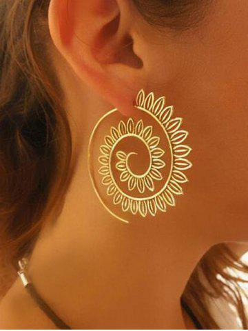 Chic Big Spiral Hollow Out Geometric Hook Earrings