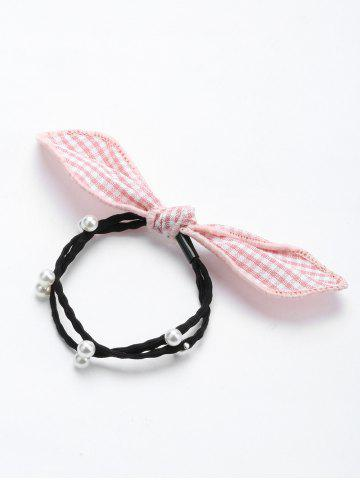 Cheap Faux Pearl Bowknot Elastic Hair Band