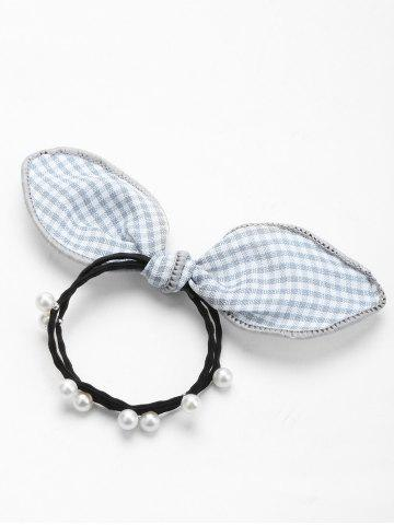 Trendy Faux Pearl Bowknot Elastic Hair Band