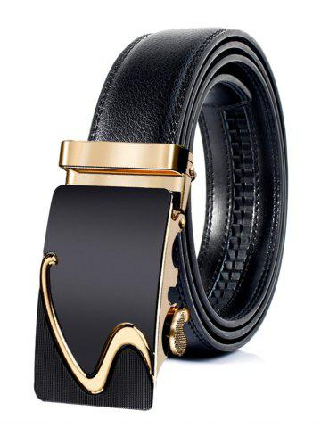 Outfit Business Style Automatic Buckle Faux Leather Belt