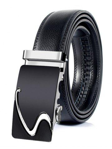 Affordable Business Style Automatic Buckle Faux Leather Belt