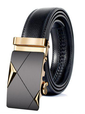 Fancy Attractive Automatic Metal Buckle Faux Leather Belt