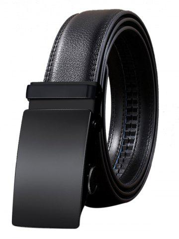 Hot Metal Automatic Buckle Faux Leather Formal Belt