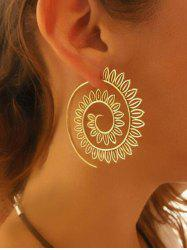 Big Spiral Hollow Out Geometric Hook Earrings -