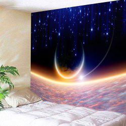 Outer Space Pattern Wall Hanging Tapestry - Starry Sky Pattern - W91 Inch * L71 Inch