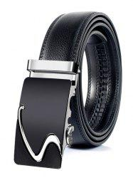 Business Style Automatic Buckle Faux Leather Belt -