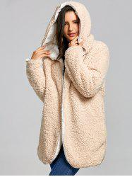 Reversible Hooded Fleece Coat -