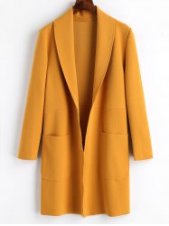 Plain Open Front Coat -