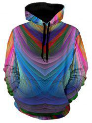 Kangaroo Pocket Pullover Colorful Hoodie -