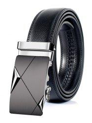 Attractive Automatic Metal Buckle Faux Leather Belt -