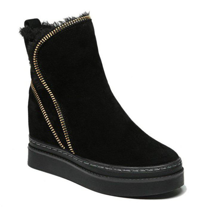 Discount Zip Embellished Fold Over Short Boots