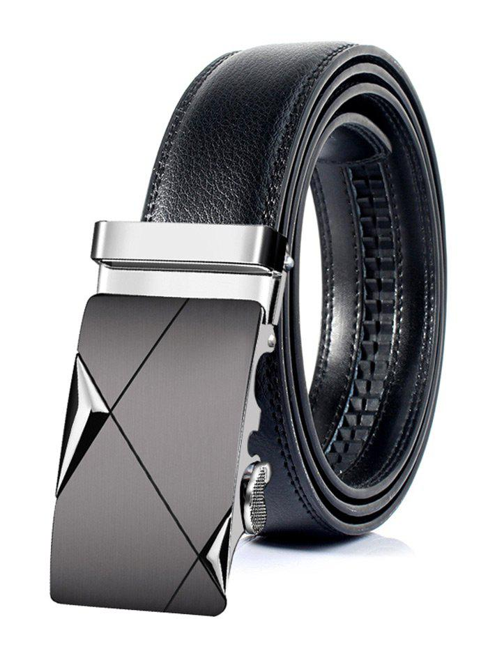 Affordable Attractive Automatic Metal Buckle Faux Leather Belt