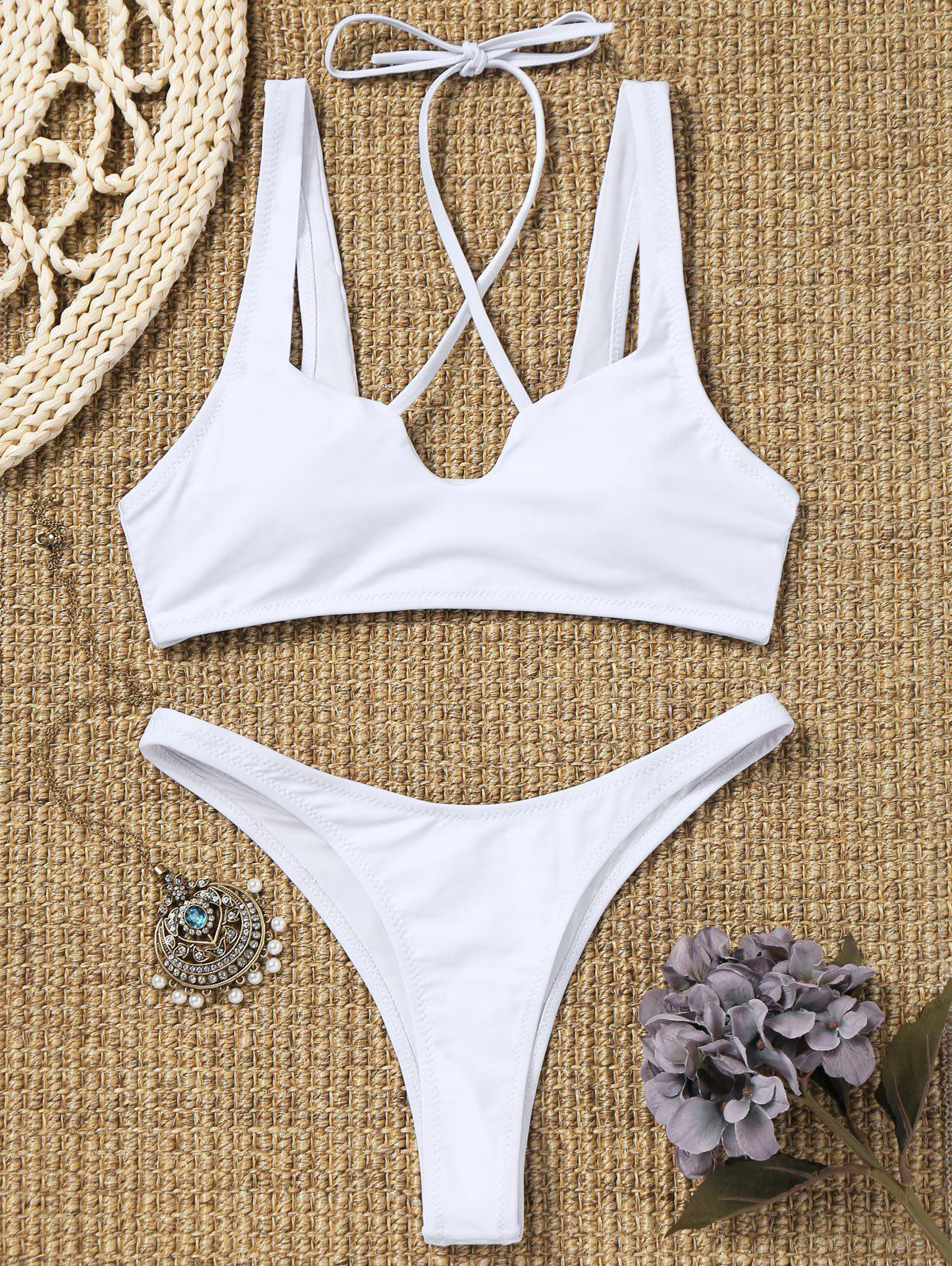 Outfit Thong High Cut Bikini Set
