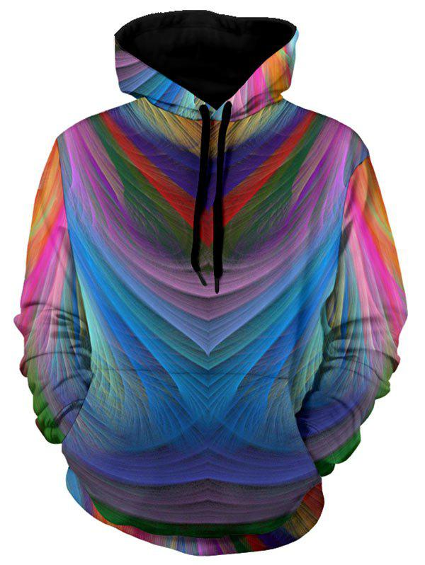 Unique Kangaroo Pocket Pullover Colorful Hoodie