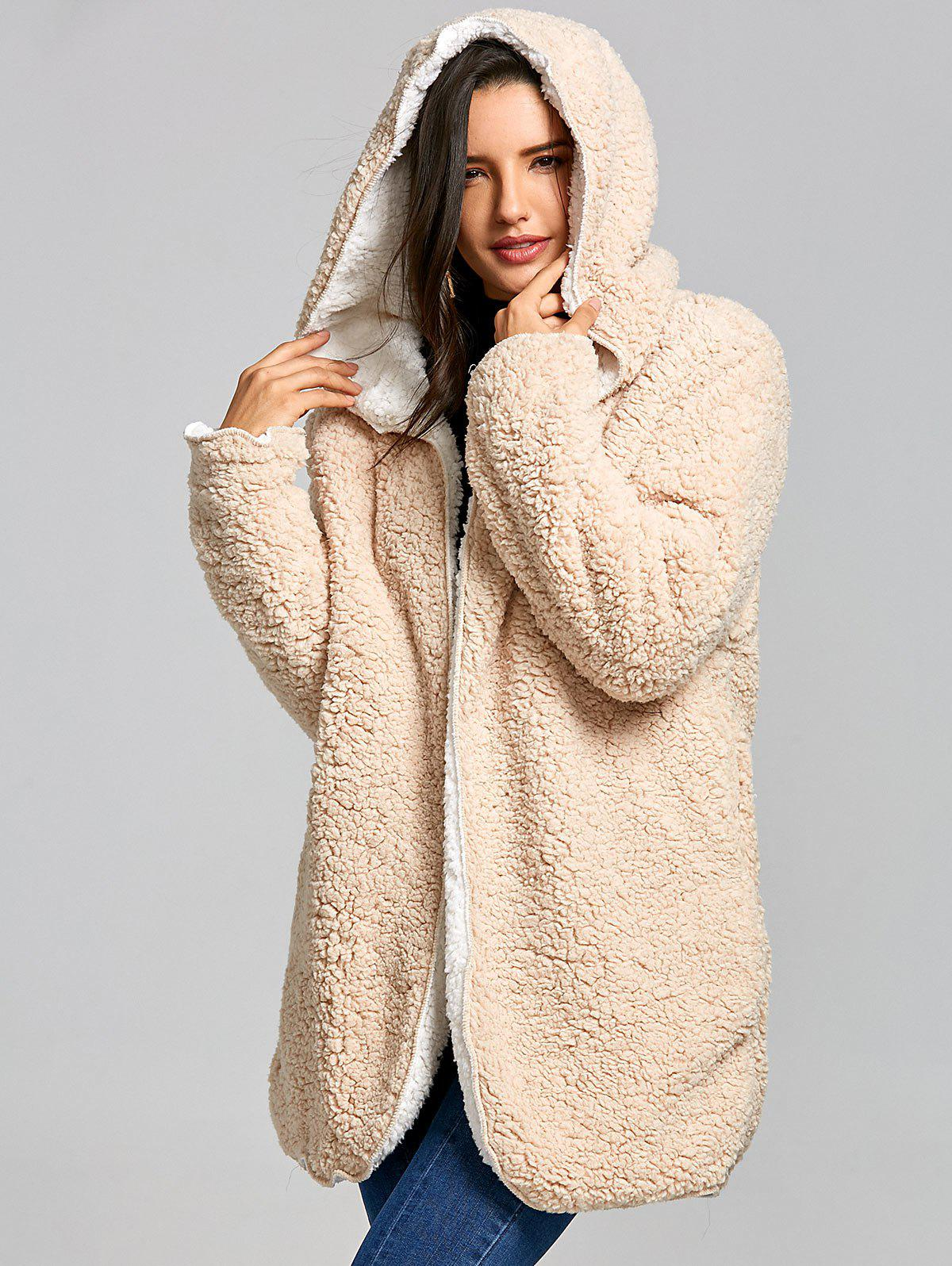 Discount Reversible Hooded Fleece Coat
