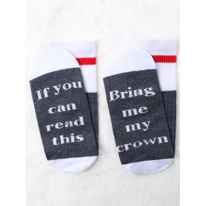 Pair of Letter Contrast Graphic Socks -