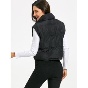 Snap Button Padded Vest -