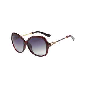 Vintage Metal Carved Full Frame Oversized Sunglasses -