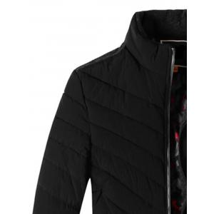Panel Design Padded Zip Up Jacket -