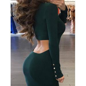 Back Cut Out Bodycon Sweater Dress -