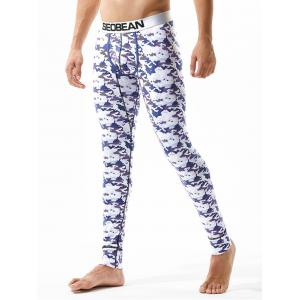 U Pouch Camouflage Gym Pants -
