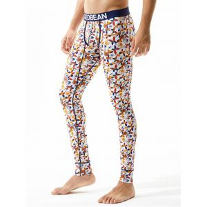 U Pouch Design Butterflies Print Gym Pants -