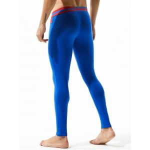 U Pouch Color Block Gym Pants -