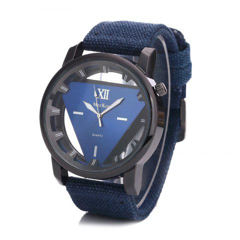 Outfit Canvas Strap Triangle Shape Hollow Out Watch