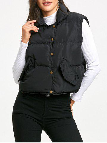 Shops Snap Button Padded Vest