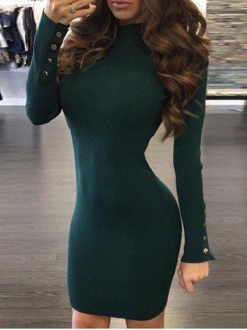 Online Back Cut Out Bodycon Sweater Dress