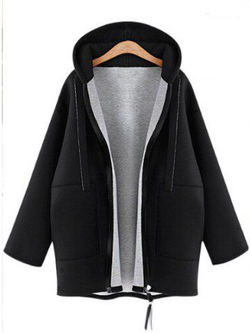 Fashion Plus Size Long Sleeve Zipper Coat