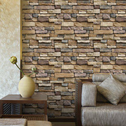 44% Drawing Room Background Brick Stones Printed Wall Stikcers