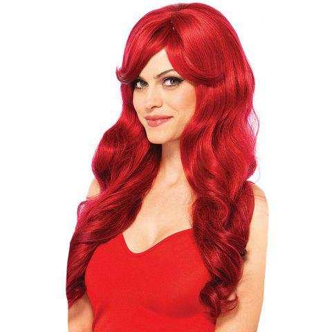 Chic Long Side Bang Loose Wave Synthetic Party Wig
