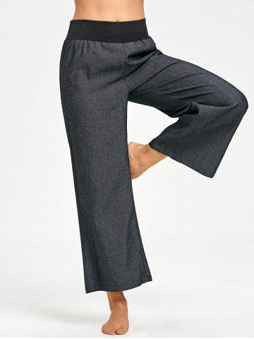 Unique Wide Waistband Palazzo Pants