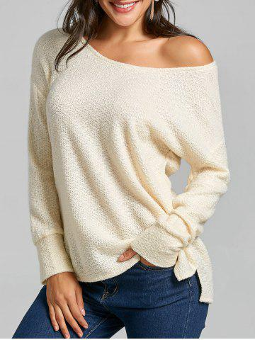 Skew Neck Tunic Sweater