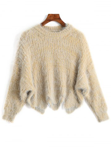 New Zigzag Hem Chunky Knit Sweater