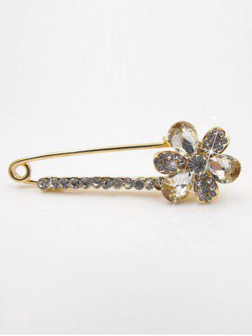 Online Floral False Crystal Embellished Brooch