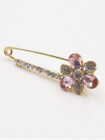 Latest Floral False Crystal Embellished Brooch
