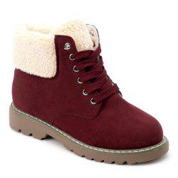 Faux Shearling Fold Over Ankle Boots -
